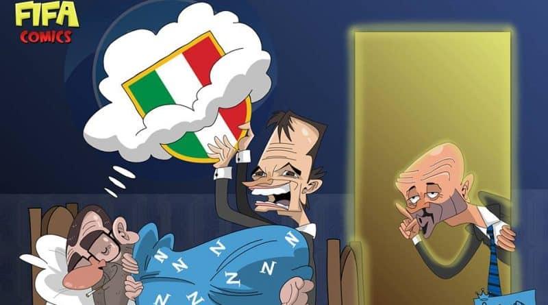 Allegri ruba il sogno scudetto a Sarri di FIFA comics