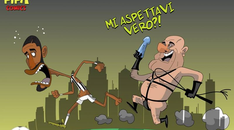 Crozza e lo stupro di Benatia a Vinovo di FIFA comics