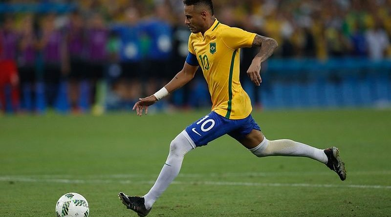 Neymar nel Brasile - Fonte: Fernando Frazão-Agência Brasil, Wikipedia