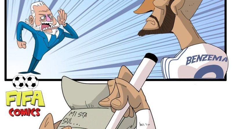 De Laurentiis nella lista nera di Benzema di FIFA comics