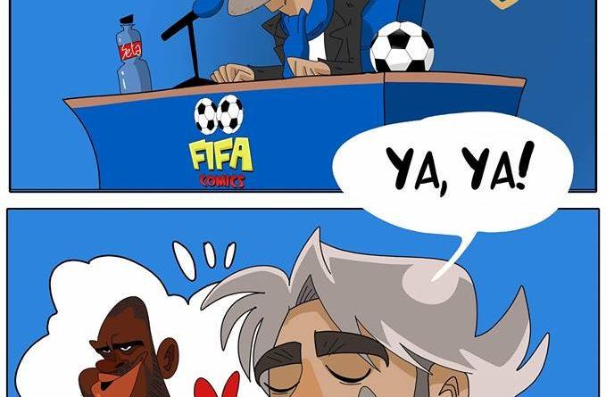 Mancini ct della Nazionale per Yaya Tourè di FIFA comics