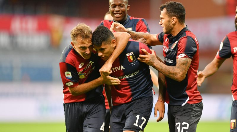 foto: Romero dopo il gol del 2-1 in Genoa-Udinese - fonte: genoacfc.it