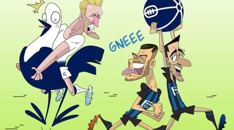 Inter-Tottenham di FIFA comics