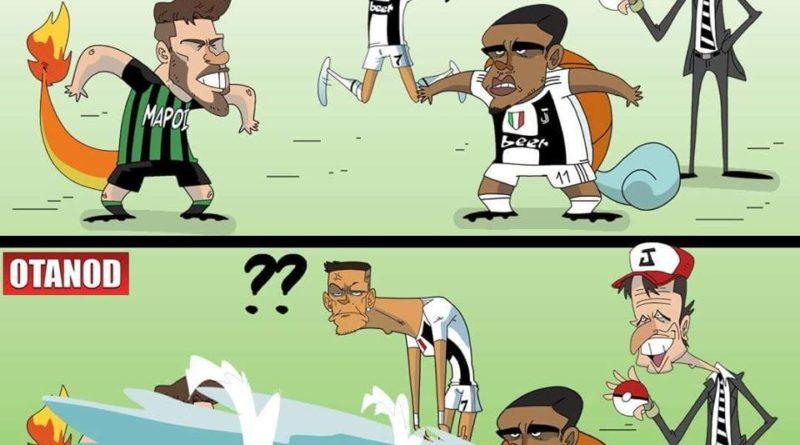 Lo sputo di Douglas Costa a Di Francesco di FIFA comics
